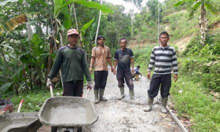 Desa Sirnajaya Realisasikan Dana Desa Tahap Tiga Dengan Pengecoran Jalan Sepanjang 950 meter
