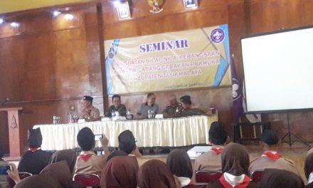 Seminar Penguatan Nilai Kebangsaan Bupati Tasik Ajak Anggota Pramuka Isi Kemerdekaan dengan Baik dan Bijak