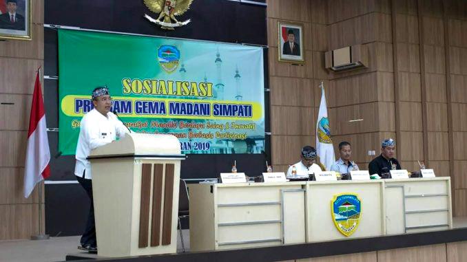 Walikota Tasikmalaya Hadiri Sosialisasi Program Gema Madani Simpati Kota Tasikmalaya.