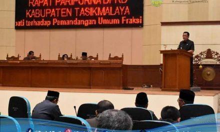 Rapat Paripurna DPRD Kab. Tasikmalaya Mengenai Raperda Tentang Laporan Pertanggungjawaban Pelaksanaan APBD T.A 2018