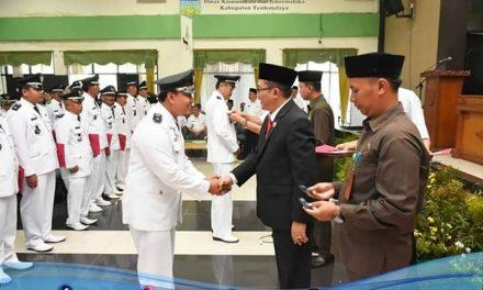 Bupati H. Ade Lantik dan Sumpah Penjabat Kepala Desa Kab Tasikmalaya Tahun 2019