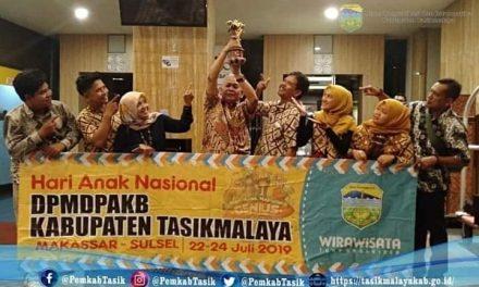 Membanggakan, Kab. Tasikmalaya Menerima Penghargaan Sebagai Kabupaten Layak Anak Kategori Pratama Tahun 2019