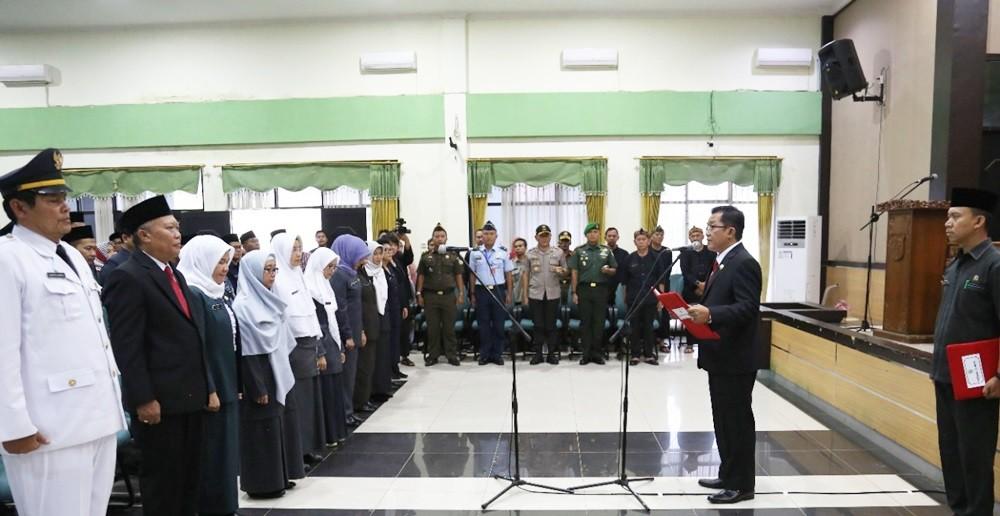 Bupati Tasikmalaya Lantik dan Sumpah  157 Pejabat Struktural 8 orang pejabat Fungsional