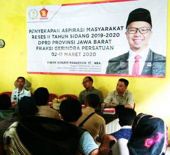 Gelar Reses Masa Persidangan II, Anggota DPRD Kabupaten Tasikmalaya Dampingi Anggota DPRD Provinsi